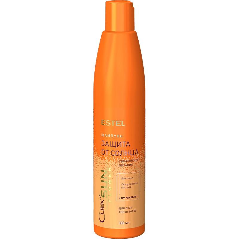 """Șampon """"Hidratare și hrănire"""" cu filtru UV pentru toate tipurile de păr ESTEL CUREX SUN FLOWER, 300 ml - ESTEL Moldova"""