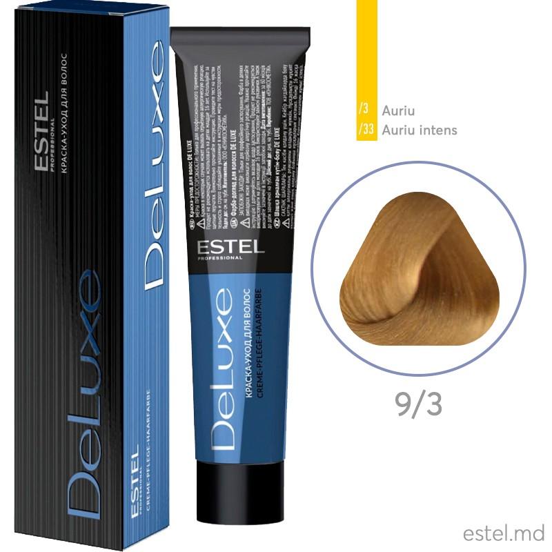 Краска-уход для волос DE LUXE, 9/3 Блондин золотистый, 60 мл