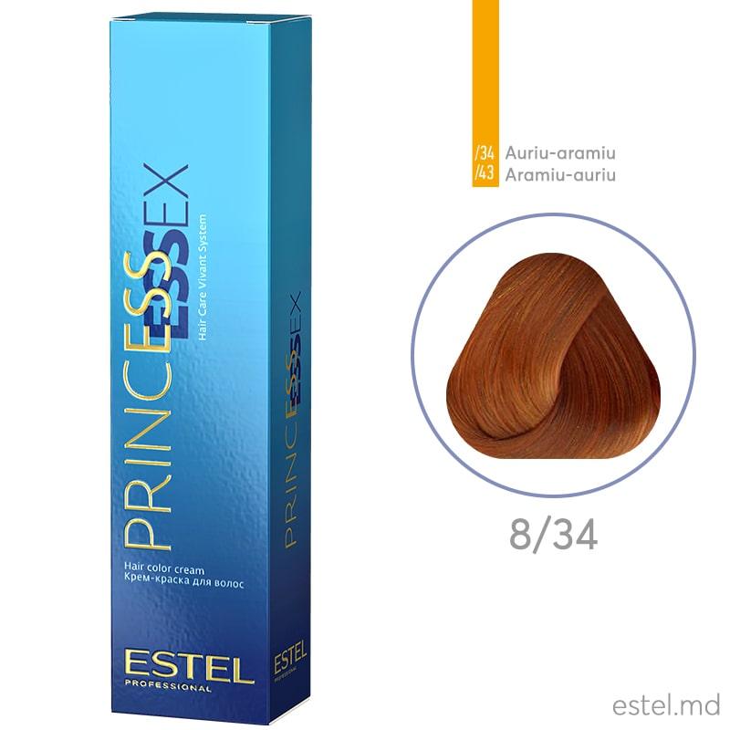 Крем-краска для волос PRINCESS ESSEX, 8/34 Светло-русый золотисто-медный, 60 мл
