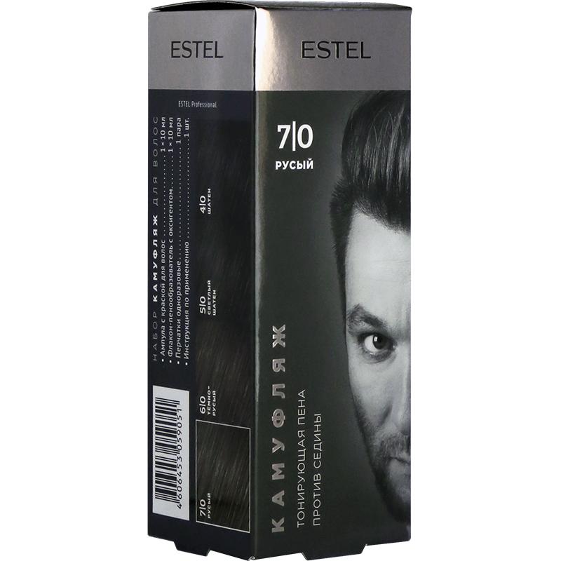 Set pentru camuflarea părului ESTEL ALPHA HOMME 7/0 Castaniu Estel Moldova