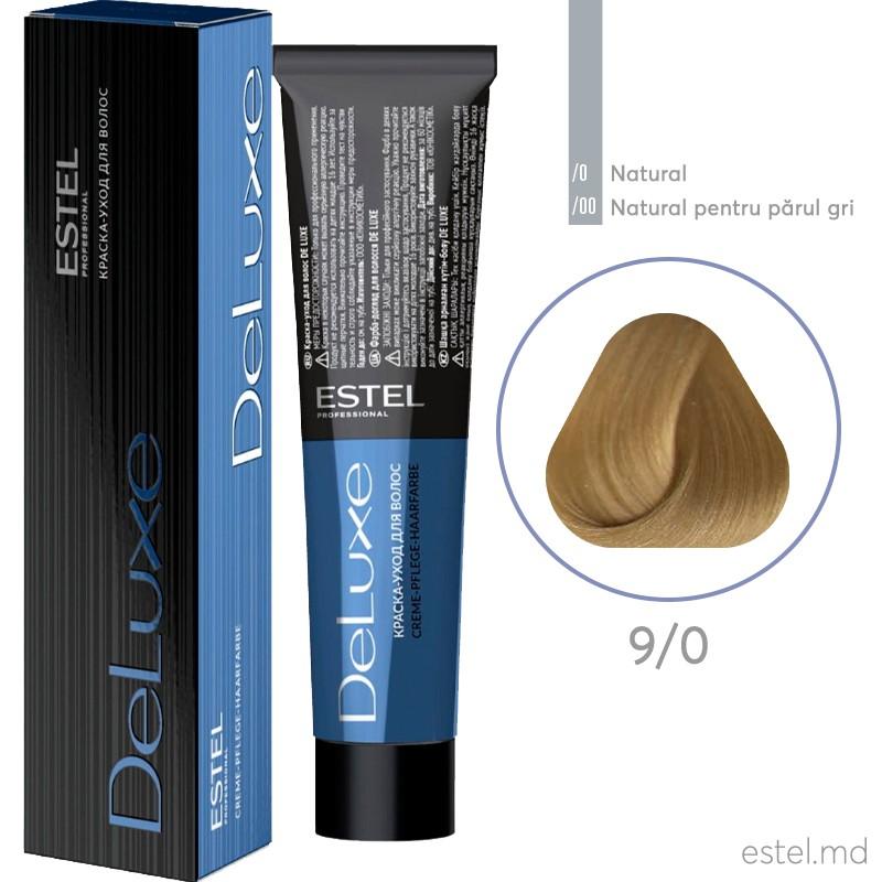 Краска-уход для волос DE LUXE, 9/0 Блондин, 60 мл