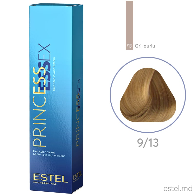 Крем-краска для волос PRINCESS ESSEX, 9/13 Блондин пепельно-золотистый, 60 мл