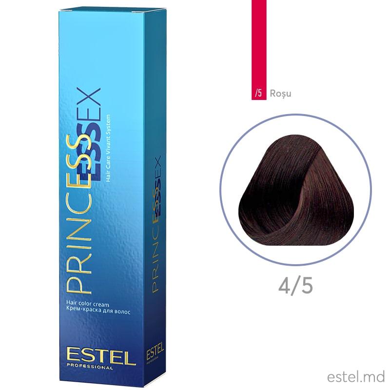 Крем-краска для волос PRINCESS ESSEX, 4/5 Шатен красный, 60 мл