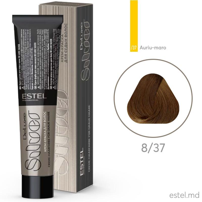 Крем-краска для седых волос DE LUXE SILVER, 8/37 Светло-русый золотисто-коричневый, 60 мл