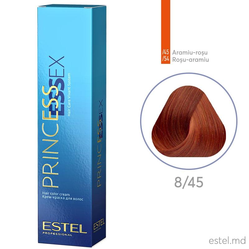Крем-краска для волос PRINCESS ESSEX, 8/45 Светло-русый медно-красный, 60 мл