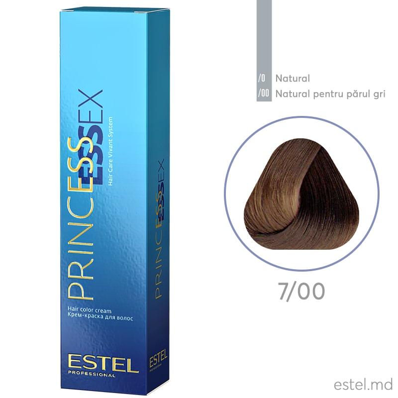Крем-краска для волос PRINCESS ESSEX, 7/00 Русый для седины, 60 мл