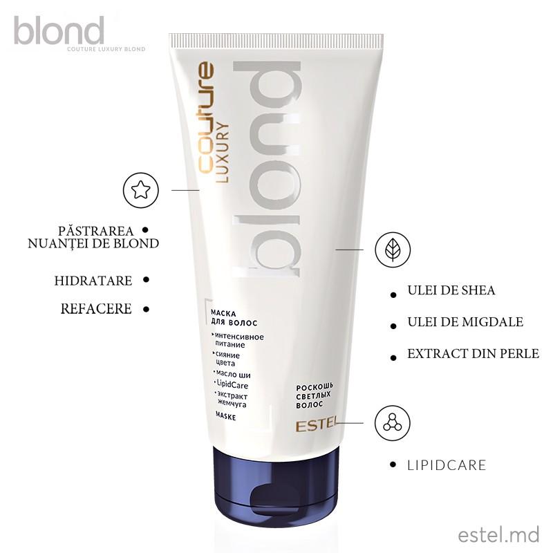 Masca pentru păr LUXURY BLOND ESTEL HAUTE COUTURE, 200 ml