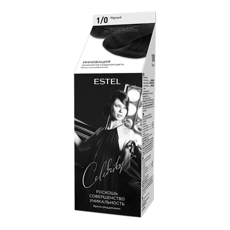 Полуперманентная краска-уход для волос Celebrity, 1/0 Черный, 125 мл