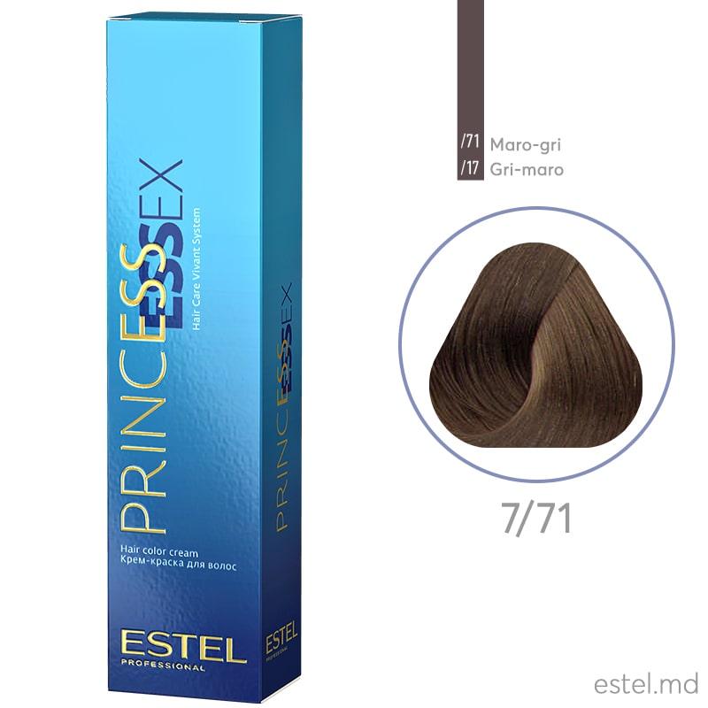 Крем-краска для волос PRINCESS ESSEX, 7/71 Русый коричнево-пепельный, 60 мл