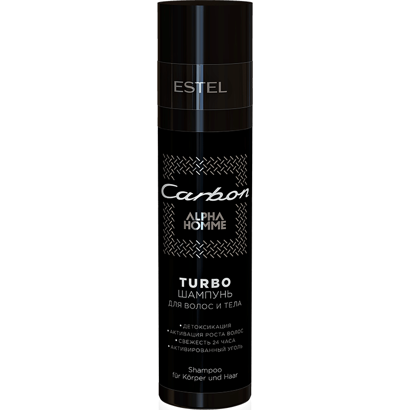 TURBO-Şampon pentru păr şi corp ESTEL ALPHA HOMME CARBON 250 ml Estel Moldova