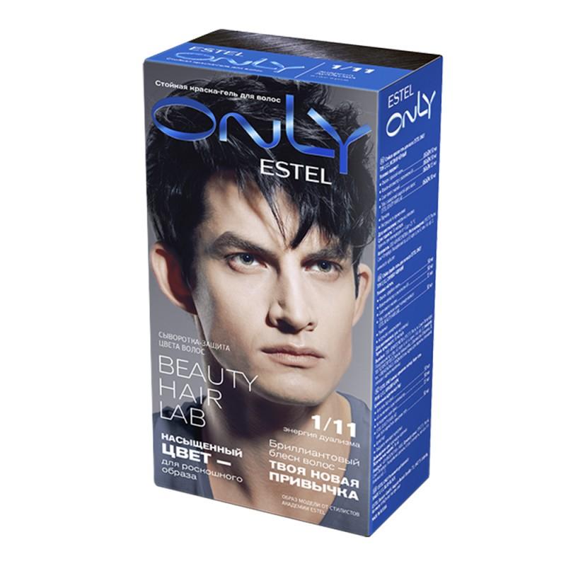 Vopsea-îngrijire pentru păr permanentă Only, 1/11 Negru-albăstrui, 100 ml