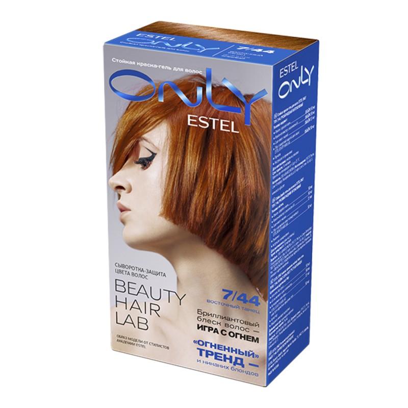 Vopsea-îngrijire pentru păr permanentă Only, 7/44 Blond cupru intens, 100 ml