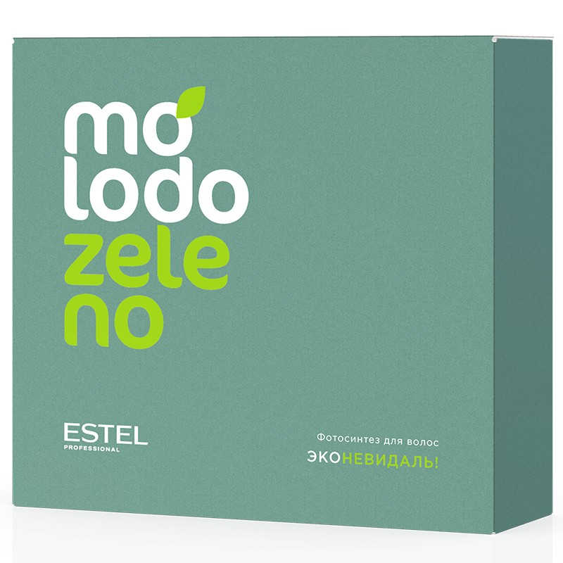 Kit tratament filler pentru par ESTEL Molodo Zeleno cu clorifilă