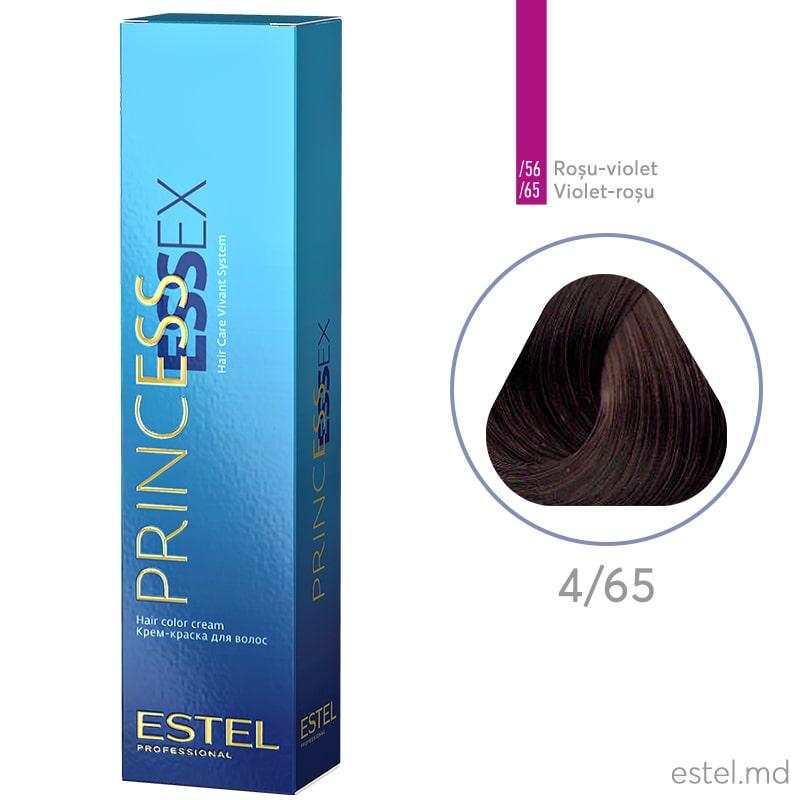 Крем-краска для волос PRINCESS ESSEX, 4/65 Шатен фиолетово-красный, 60 мл