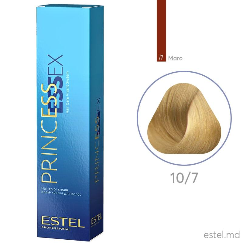 Крем-краска для волос PRINCESS ESSEX, 10/7 Светлый блондин коричневый, 60 мл