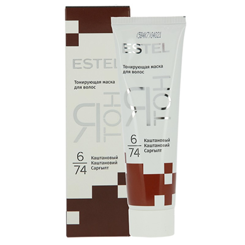 Mască nuanțătoare pentru păr YaTon, 6/74 Castaniu, 60 ml