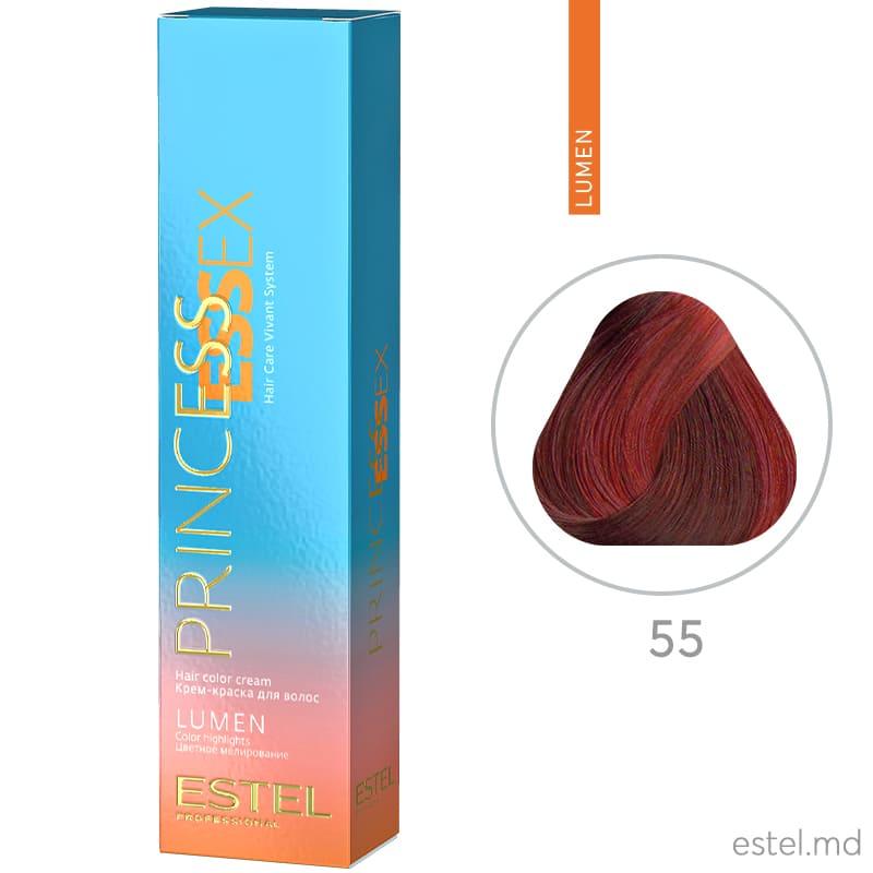 Крем-краска для волос PRINCESS ESSEX LUMEN, 55 Красный, 60 мл
