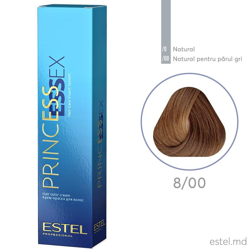 Крем-краска для волос PRINCESS ESSEX, 8/00 Светло-русый седины, 60 мл