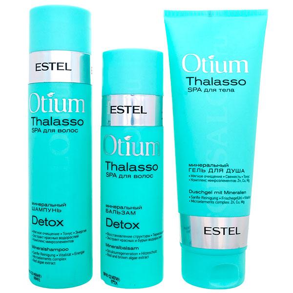 Set pentru îngrijirea părului și scalpului problematic ESTEL OTIUM Thalasso Detox (Șampon 250 ml, balsam 200 ml, gel de duș 250 ml)