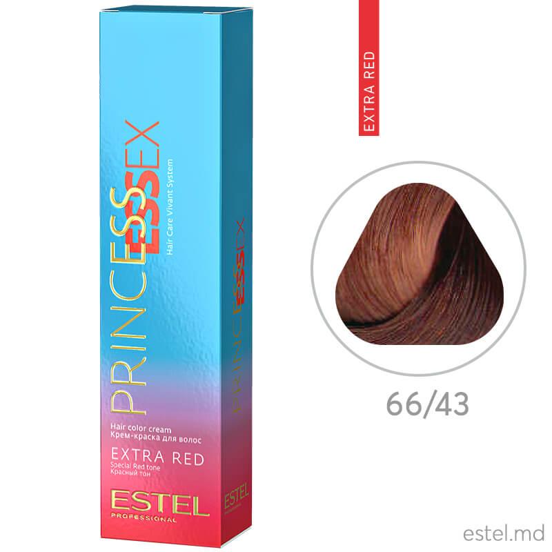 Крем-краска для волос PRINCESS ESSEX EXTRA RED, 66/43 Темно-русый медно-золотистый,  60 мл