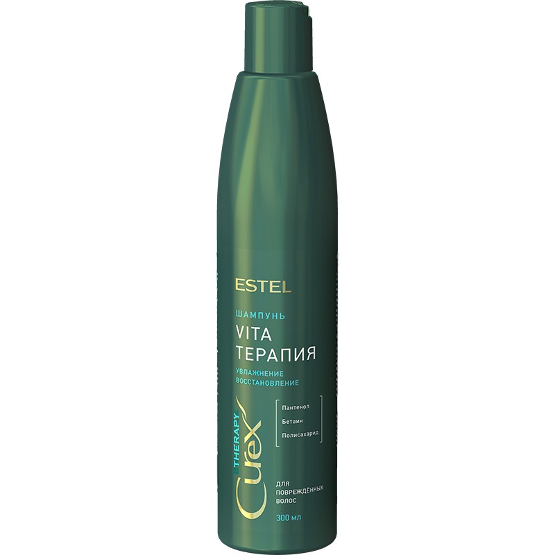 "Șampon ""Vita-therapy"" pentru Păr deteriorat ESTEL CUREX THERAPY, 300 ml - ESTEL Moldova"