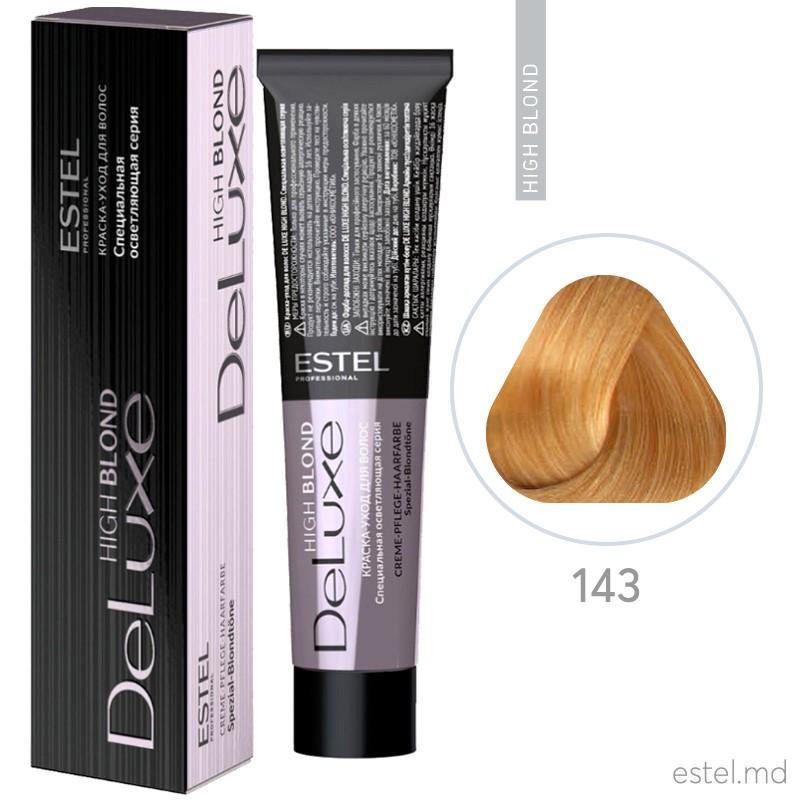 Vopsea permanenta de par De Luxe High Blond 143 Blond special aramiu-auriu 60 ml