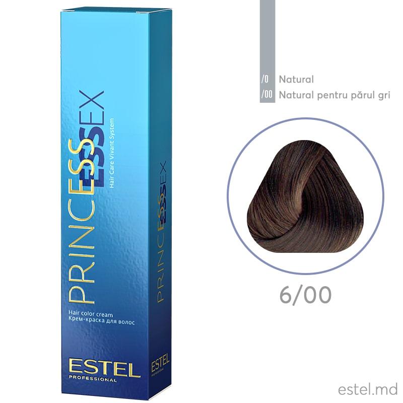 Крем-краска для волос PRINCESS ESSEX, 6/00 Темно-русый для седых волос, 60 мл