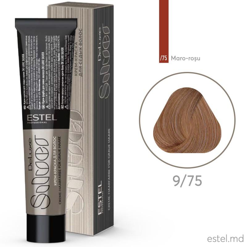 Крем-краска для седых волос DE LUXE SILVER, 9/75 Блондин коричнево-красный, 60 мл