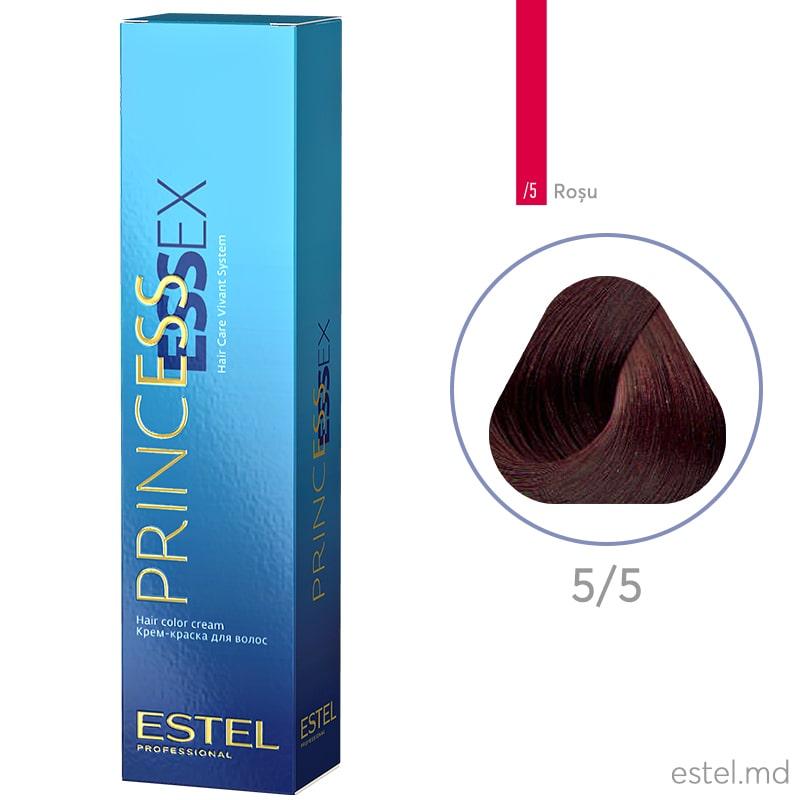 Крем-краска для волос PRINCESS ESSEX, 5/5 Светлый шатен красный, 60 мл