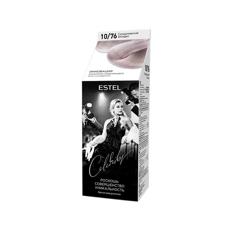 Vopsea-îngrijire pentru păr semipermanentă Celebrity, 10/76 Blond scandinav, 125 ml