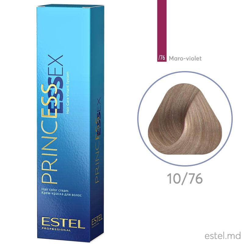 Крем-краска для волос PRINCESS ESSEX, 10/76 Светлый блондин коричнево-фиолетовый, 60 мл