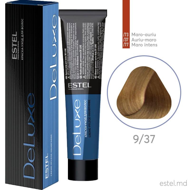 Краска-уход для волос DE LUXE, 9/37 Блондин золотисто-коричневый, 60 мл
