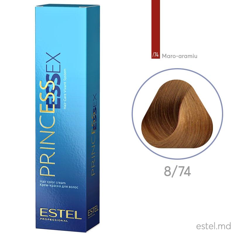 Крем-краска для волос PRINCESS ESSEX, 8/74 Светло-русый коричнево-медный, 60 мл