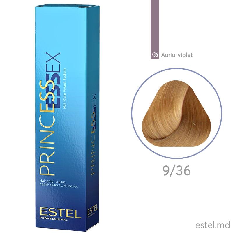Крем-краска для волос PRINCESS ESSEX, 9/36 Блондин золотисто-фиолетовый, 60 мл