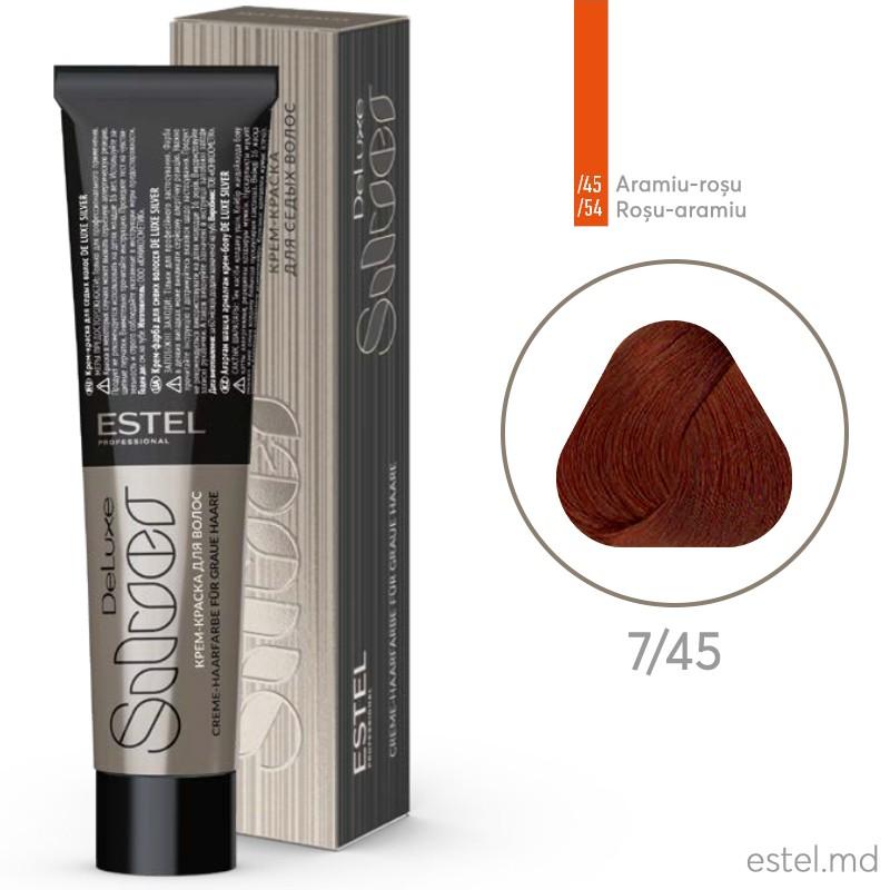 Крем-краска для седых волос DE LUXE SILVER, 7/45 Русый медно-красный, 60 мл