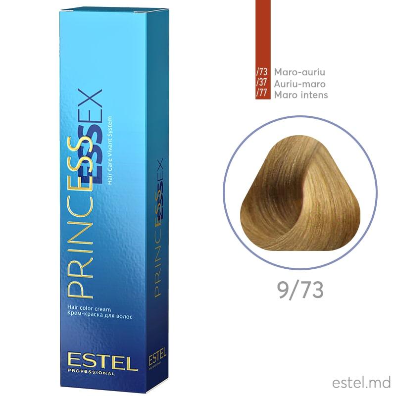 Крем-краска для волос PRINCESS ESSEX, 9/73 Блондин коричнево-золотистый, 60 мл