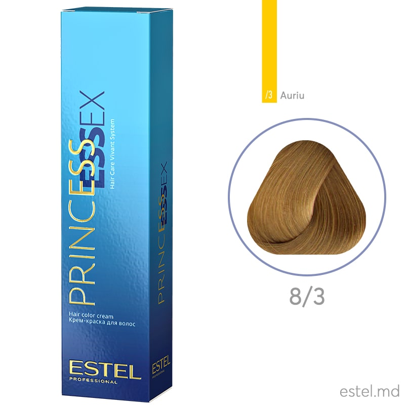 Крем-краска для волос PRINCESS ESSEX, 8/3 Светло-русый золотистый, 60 мл