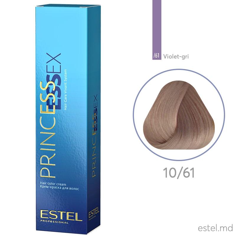 Крем-краска для волос PRINCESS ESSEX, 10/61 Светлый блондин фиолетово-пепельный, 60 мл