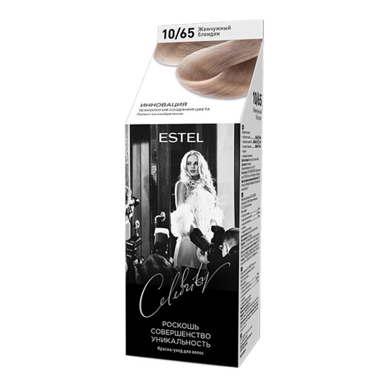 Полуперманентная краска-уход для волос Celebrity, 10/65 Жемчужный блондин, 125 мл