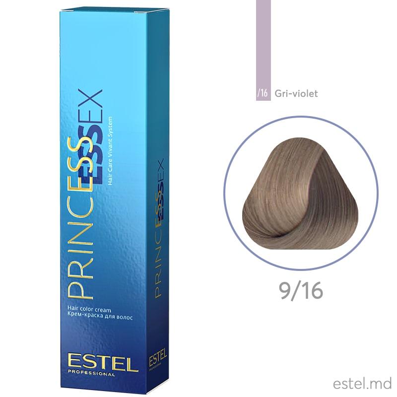 Крем-краска для волос PRINCESS ESSEX, 9/16 Блондин пепельно-фиолетовый, 60 мл