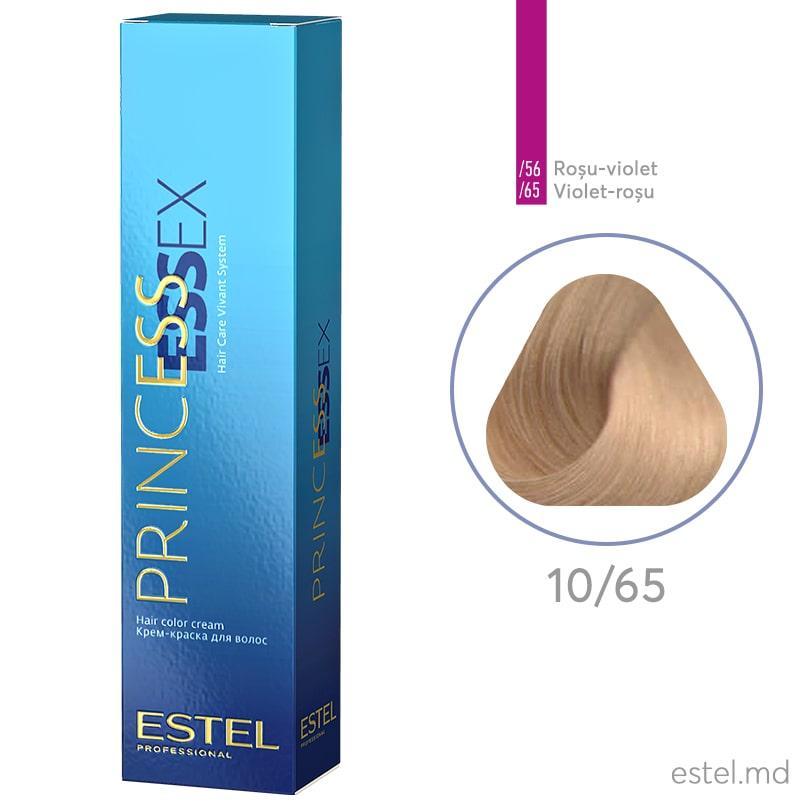 Крем-краска для волос PRINCESS ESSEX, 10/65 Светлый блондин фиолетово-красный, 60 мл