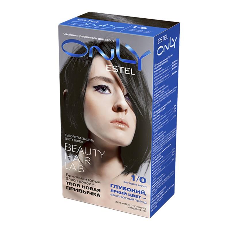 Краска-уход для волос Only, 1/0 Черный, 100 мл