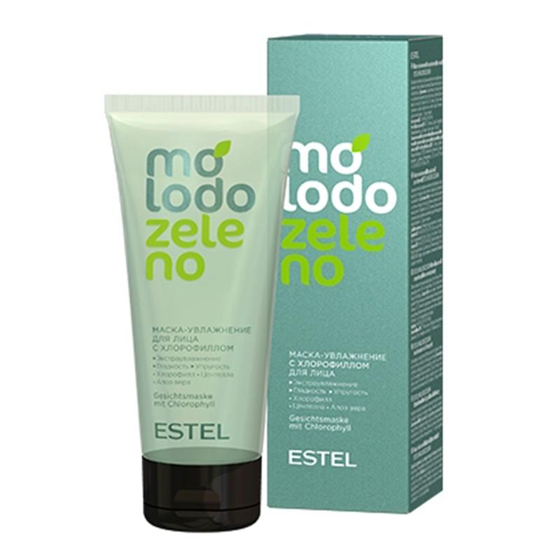 Mască  hidratantă cu clorofilă pentru față ESTEL Molodo Zeleno, 100 ml