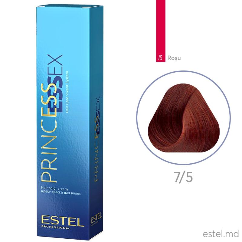Крем-краска для волос PRINCESS ESSEX, 7/5 Русый красный, 60 мл