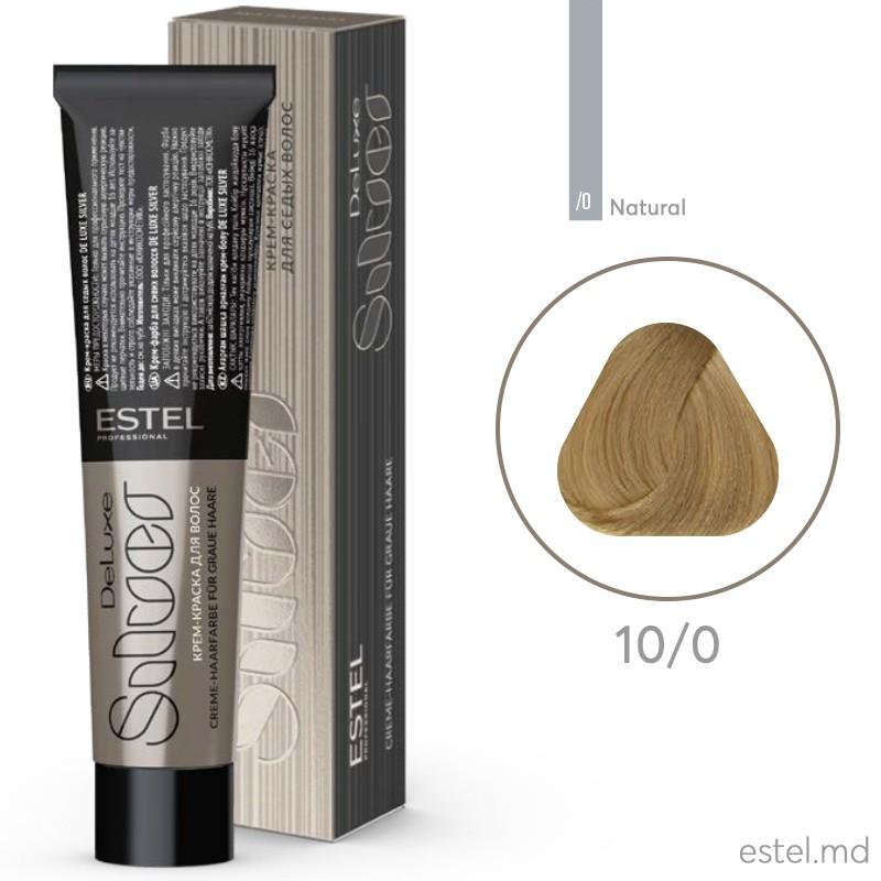Крем-краска для седых волос DE LUXE SILVER,10/0 Светлый блондин, 60 мл