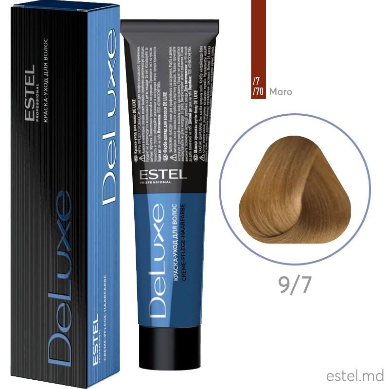 Краска-уход для волос DE LUXE, 9/7 Блондин коричневый, 60 мл