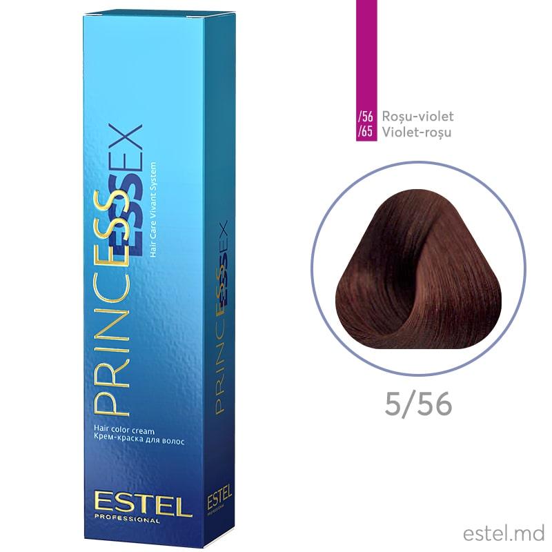 Крем-краска для волос PRINCESS ESSEX, 5/56 Светлый шатен красно-фиолетовый, 60 мл