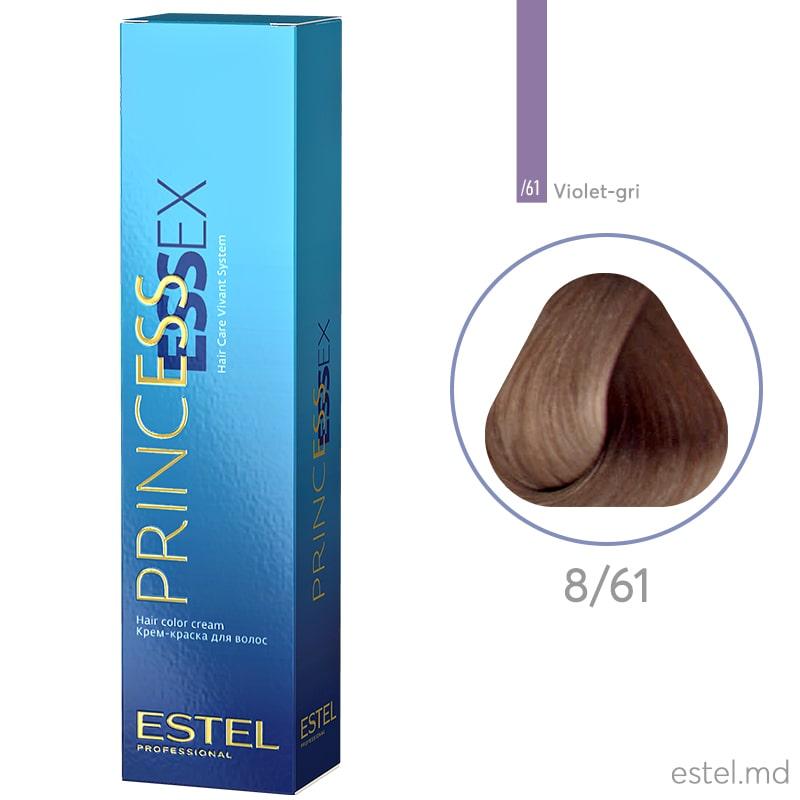 Крем-краска для волос PRINCESS ESSEX, 8/61 Светло-русый фиолетово-пепельный, 60 мл