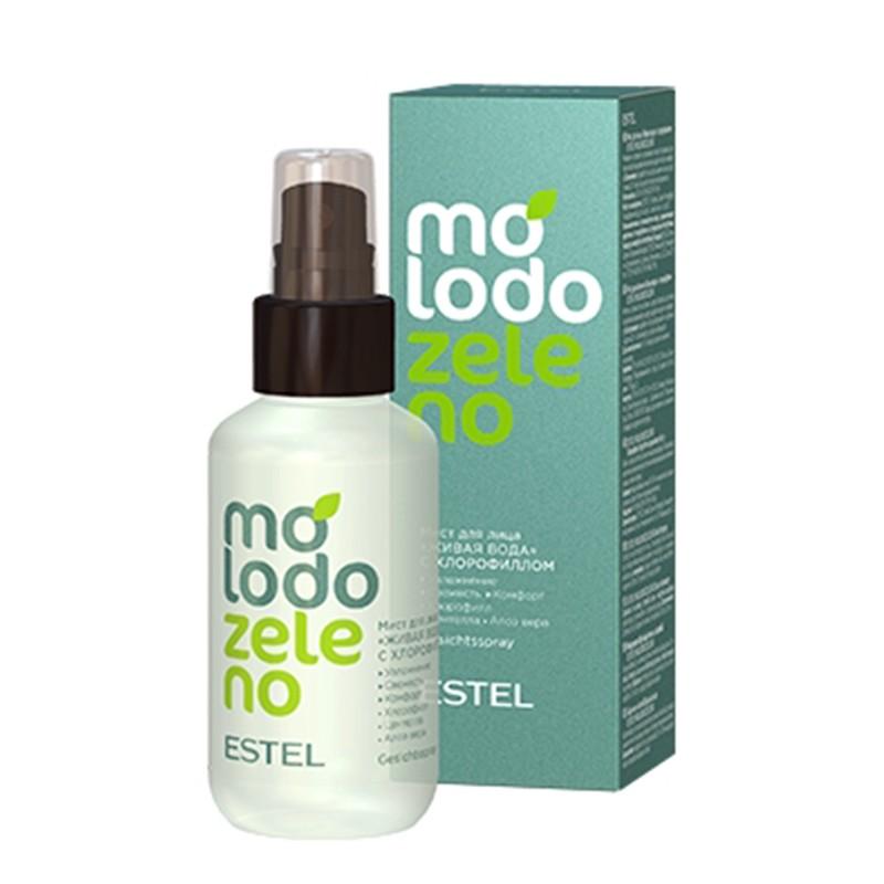 """Spray pentru față """"Apă vie"""" cu clorofilă ESTEL Molodo Zeleno, 100 ml"""