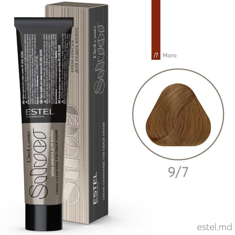 Крем-краска для седых волос DE LUXE SILVER, 9/7 Блондин коричневый, 60 мл